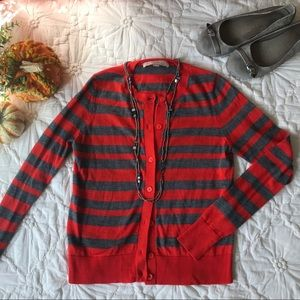 Ann Taylor Loft Striped Cardigan